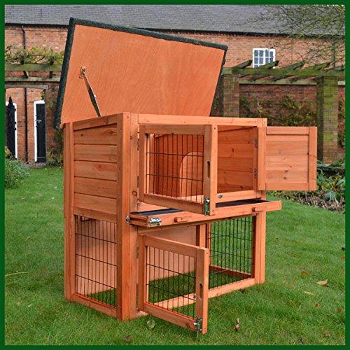 Kaninchenstall, Feel Good UK, doppelstöckig, mit Laufplanke - 2