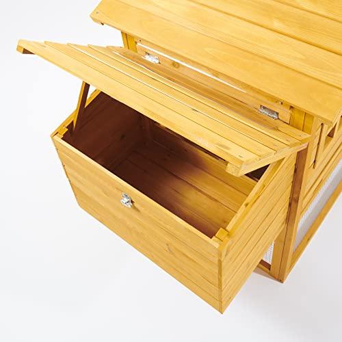 Kaninchenstall NCH10 M, Feel Good UK, doppelstöckig, mit innovativen Schließmechanismus - 4