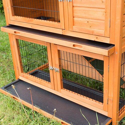 Kaninchenstall, Bunny Business, doppelstöckig, mit Ausziehfächern, ca. 104cm - 7