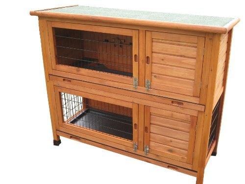 BUNNY BUSINESS Doppeldecker-Stall für Kaninchen, aus Kunststoff
