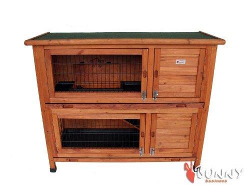 BUNNY BUSINESS Doppeldecker-Stall für Kaninchen, aus Kunststoff - 2