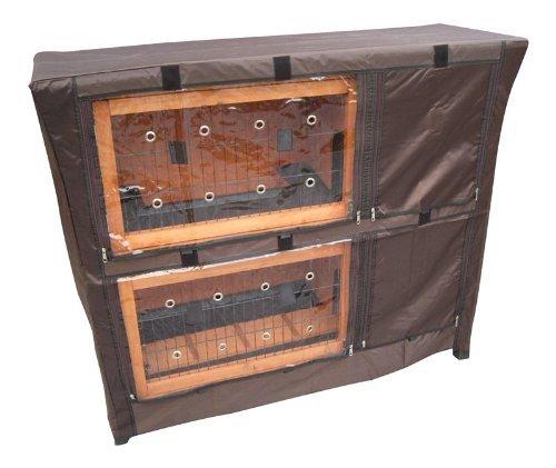 BUNNY BUSINESS Doppeldecker-Stall für Kaninchen, aus Kunststoff - 3