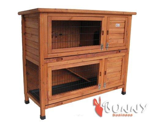 BUNNY BUSINESS Doppeldecker-Stall für Kaninchen, aus Kunststoff - 6