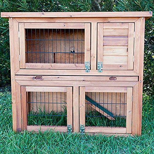 Kaninchenstall, Bunny Business doppelstöckig, ausziehbare Reinigungsschale, 4 Türen - 3