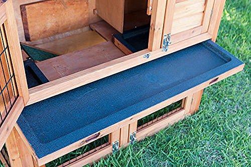 Kaninchenstall, Bunny Business doppelstöckig, ausziehbare Reinigungsschale, 4 Türen - 5