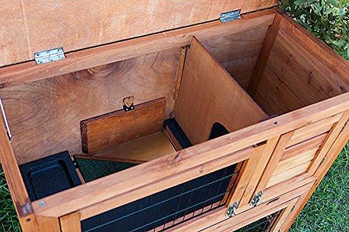 Kaninchenstall, Bunny Business doppelstöckig, ausziehbare Reinigungsschale, 4 Türen - 8