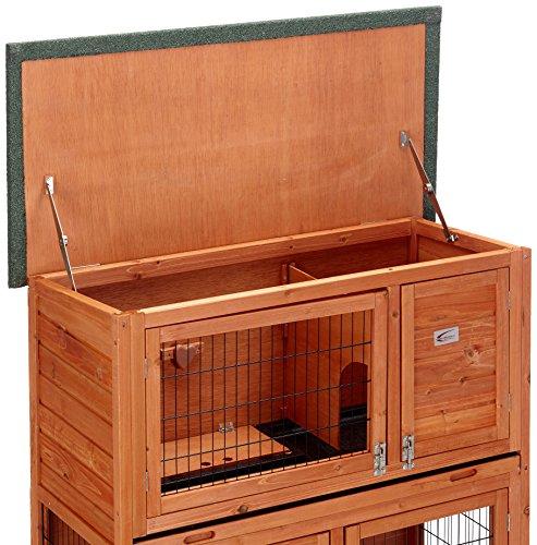 Kaninchenstall, Bunny Business, doppelstöckig, mit Auslauf - 4