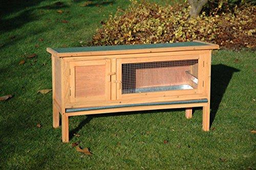 Dobar Kaninchenstall mit Zinkwanne aus Nadelholz, einstöckig - 2