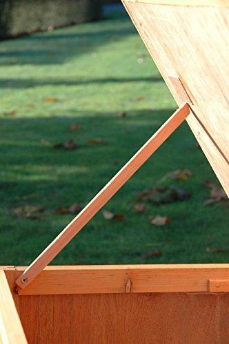 Dobar Kaninchenstall mit Zinkwanne aus Nadelholz, einstöckig - 8