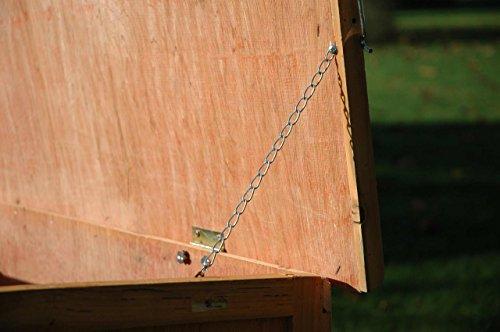 Dobar Kaninchenstall mit Zinkwanne aus Nadelholz, einstöckig - 9