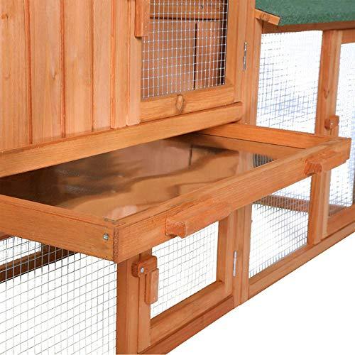 Kaninchenstall de Luxe, Dobar, XXL, mit drei Türen - 7