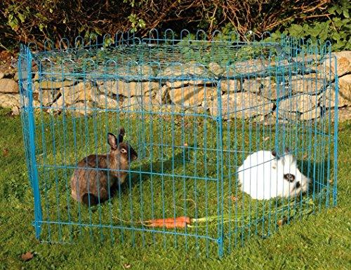 Kaninchengehege, Dobar, einstöckig, 6-eckiges Freilaufgehege - 2