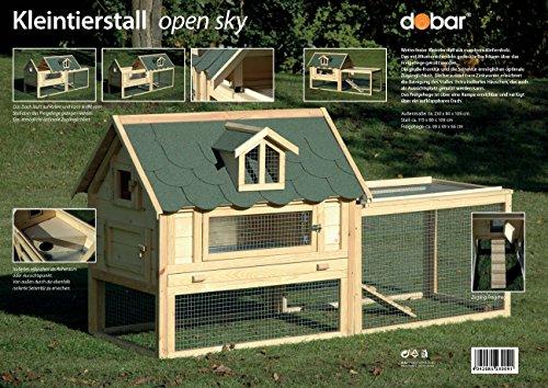 """Kaninchenstall Luxus, Dobar, einstöckig, """"Open Sky"""" - 13"""