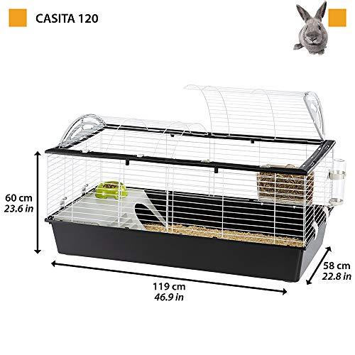 Kaninchenstall, Ferplast CASITA 120, einstöckig, gewölbtes Dach - 3