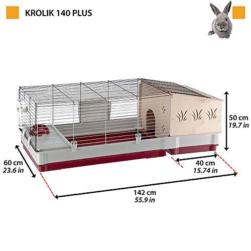 Kaninchenstall Krolik 140 Plus, Ferplast, einstöckig - 3