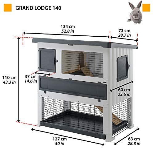 Kaninchenstall GRAND LODGE 140 PLUS, Ferplast, doppelstöckig - 2