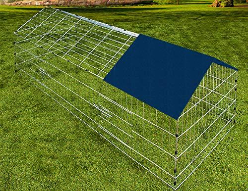 Kaninchenstall, Deuba, einstöckig, Freilaufgehege inkl. Sonnenschutz - 6