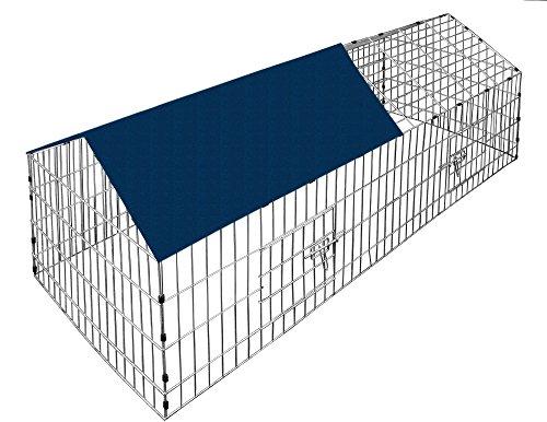 Kaninchenstall, Deuba, XXL, mit Sonnenschutz 180 x 75 cm