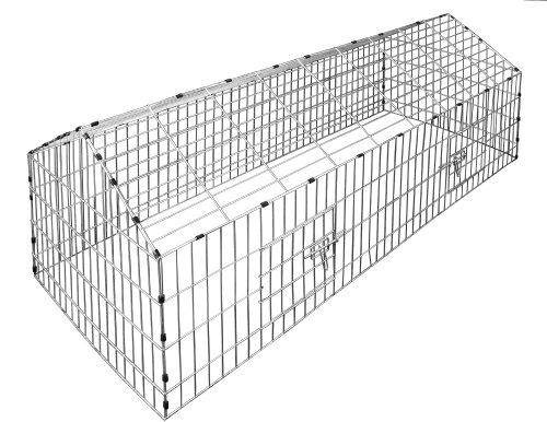 Kaninchenstall, Deuba, XXL, mit Sonnenschutz 180 x 75 cm - 3