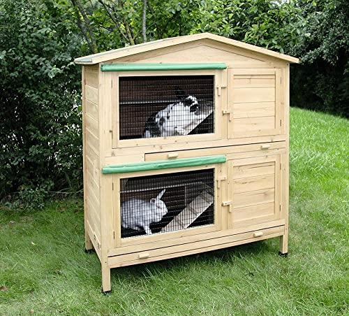 Kaninchenstall Appartement von Kerbl – ein durchdachtes Stallkonzept (doppelstöckig) - 2