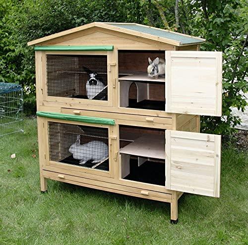 Kaninchenstall Appartement von Kerbl – ein durchdachtes Stallkonzept (doppelstöckig) - 3