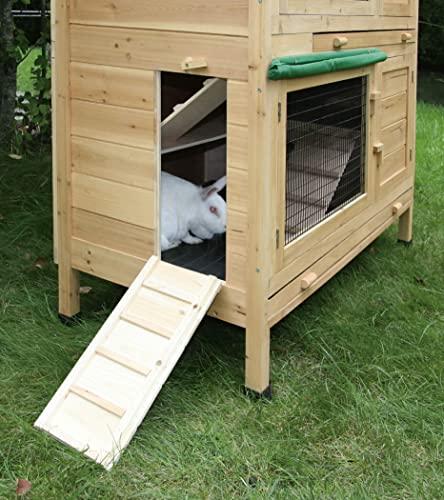 Kaninchenstall Appartement von Kerbl – ein durchdachtes Stallkonzept (doppelstöckig) - 4