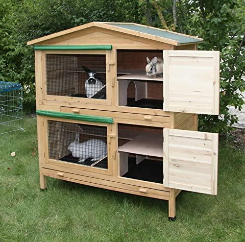 Kaninchenstall Appartement von Kerbl – ein durchdachtes Stallkonzept (doppelstöckig) - 7