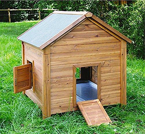 Kleintierstall für Kaninchen oder Hühner, BIG, Kerbl, einstöckig, mit Bitumendach, 105 x 100 x 108 cm - 3