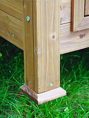 Kleintierstall für Kaninchen oder Hühner, BIG, Kerbl, einstöckig, mit Bitumendach, 105 x 100 x 108 cm - 5