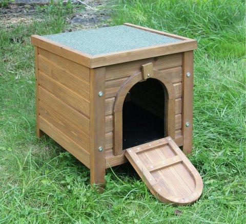 Kaninchen-Kleintierhaus, Outdoor, Kerbl, aufklappbares Bitumendach, Ergänzung zu Freilaufgehegen