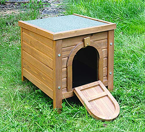 Kaninchen-Kleintierhaus, Outdoor, Kerbl, aufklappbares Bitumendach, Ergänzung zu Freilaufgehegen - 2