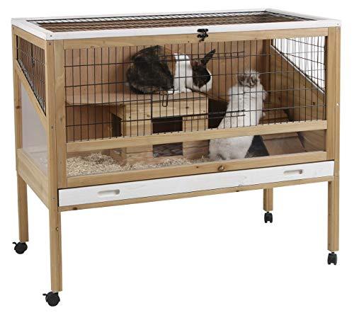 Kaninchen-Kleintierkäfig Indoor Deluxe, Kerbl, einstöckig, 115 x 60 x 92,5 cm