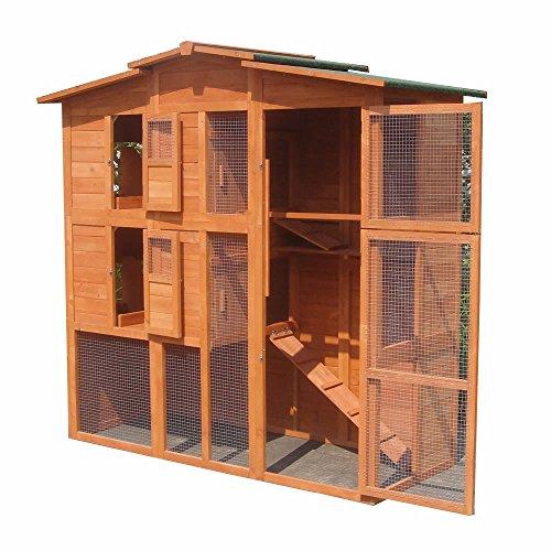 XXL Hühnerstall Freilaufgehege Freigehege Holz Hasen Stall Kaninchenstall - 3
