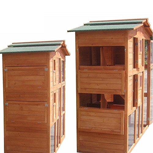 XXL Hühnerstall Freilaufgehege Freigehege Holz Hasen Stall Kaninchenstall - 5