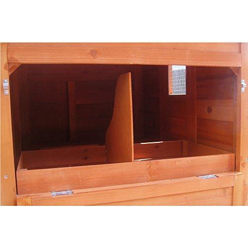XXL Hühnerstall Freilaufgehege Freigehege Holz Hasen Stall Kaninchenstall - 6