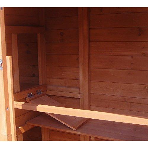 XXL Hühnerstall Freilaufgehege Freigehege Holz Hasen Stall Kaninchenstall - 8