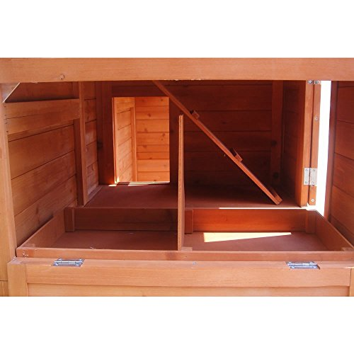 XXL Hühnerstall Freilaufgehege Freigehege Holz Hasen Stall Kaninchenstall - 9