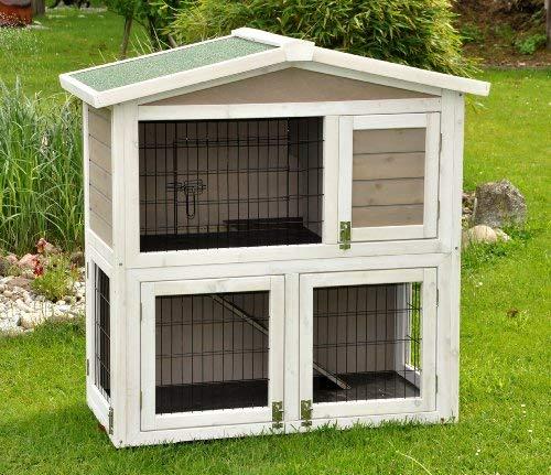 Kaninchenstall Idefix von nanook - zwei Stockwerke mit viel Platz (doppelstöckig)