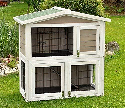 Kaninchenstall Idefix von nanook – zwei Stockwerke mit viel Platz (doppelstöckig) - 2