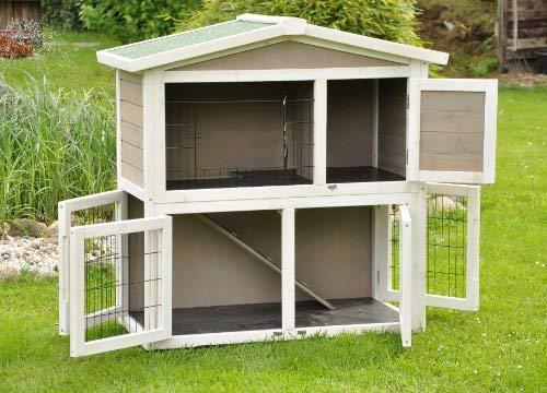 Kaninchenstall Idefix von nanook – zwei Stockwerke mit viel Platz (doppelstöckig) - 3