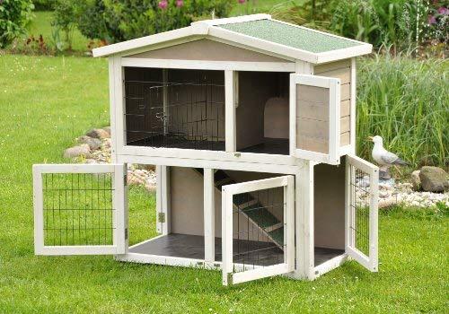 Kaninchenstall Idefix von nanook – zwei Stockwerke mit viel Platz (doppelstöckig) - 4