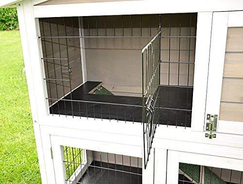 Kaninchenstall Idefix von nanook – zwei Stockwerke mit viel Platz (doppelstöckig) - 5