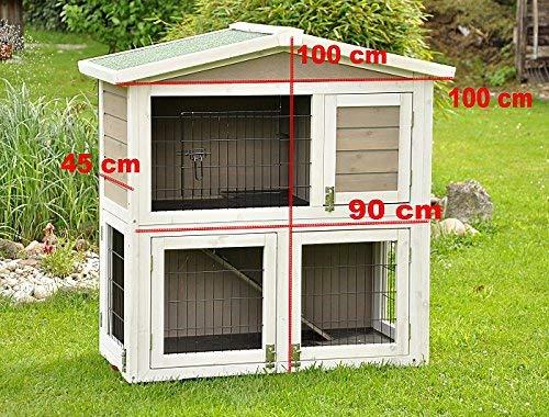 Kaninchenstall Idefix von nanook – zwei Stockwerke mit viel Platz (doppelstöckig) - 7