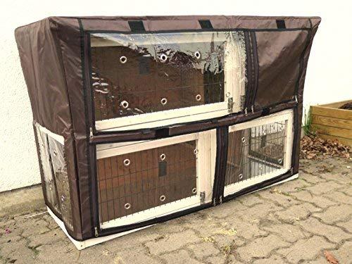 nanook Schutzhülle Hasenstall Kaninchenstall für Serie Moritz XL, wetterfest, 130 x 80 x 44 cm - 3