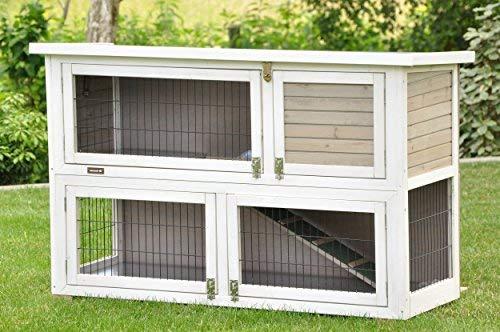 Kaninchenstall Moritz 2 - praktisches Kleintierhaus für alle Lebenslagen (doppelstöckig)