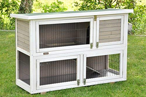 Kaninchenstall Moritz 2 – praktisches Kleintierhaus für alle Lebenslagen (doppelstöckig) - 3