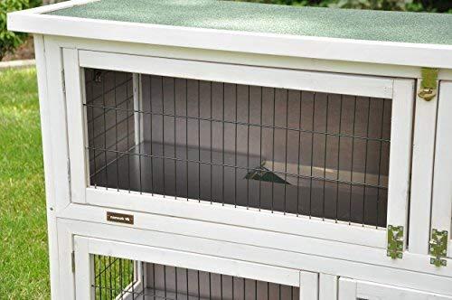 Kaninchenstall Moritz 2 – praktisches Kleintierhaus für alle Lebenslagen (doppelstöckig) - 5