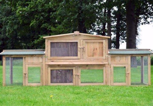 Der Zooprimus Kaninchenstall XXL - großer Auslauf über zwei Stockwerke