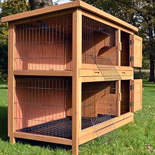 Kaninchenstall Nr. 5, BS, doppelstöckig, kompakt - 6