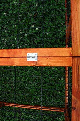 Kaninchen Freilauf Deluxe, Elmato, mit Gitterstäben und Deckel, 120 x 120 x 48 cm - 4